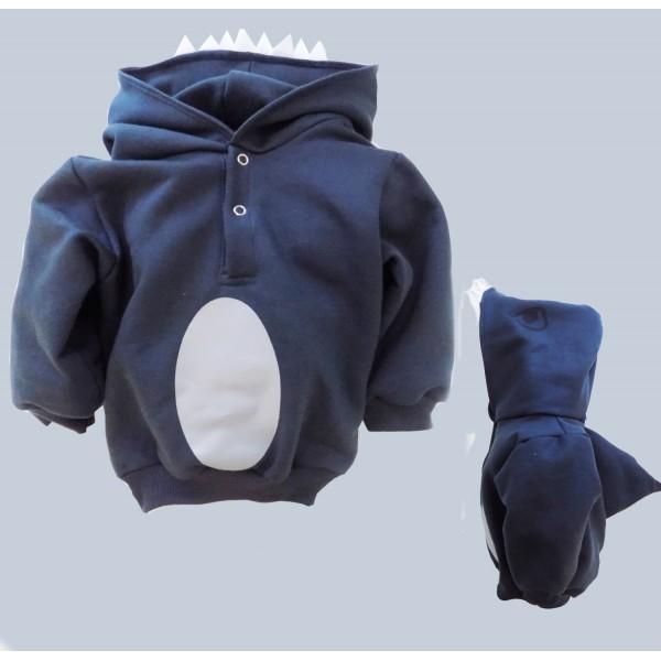 093b13a5f9 Fantasia Infantil - Moletom Baby Tubarão - Moletons Divertidos de M a 6 anos